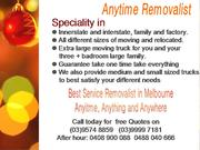 Anytime Removalist--The best Service Removalist in Mel